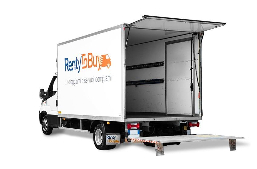 Noleggio furgone box con sponda battente box Iveco